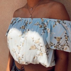 Strapless blouse